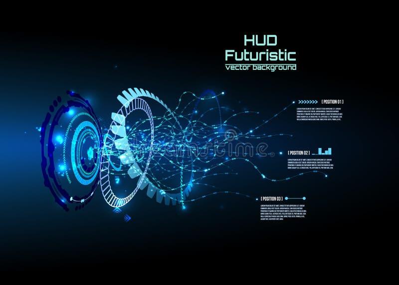 Infographics futurista del interfaz, HUD, fondo del vector fotos de archivo