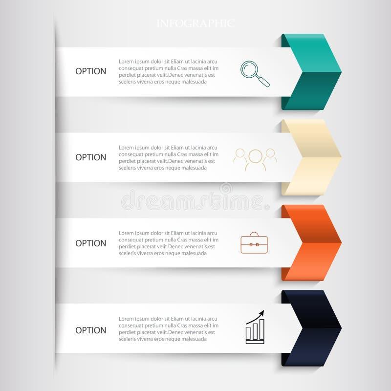 Infographics-Geschäftsfahnen eingestellt lizenzfreie abbildung