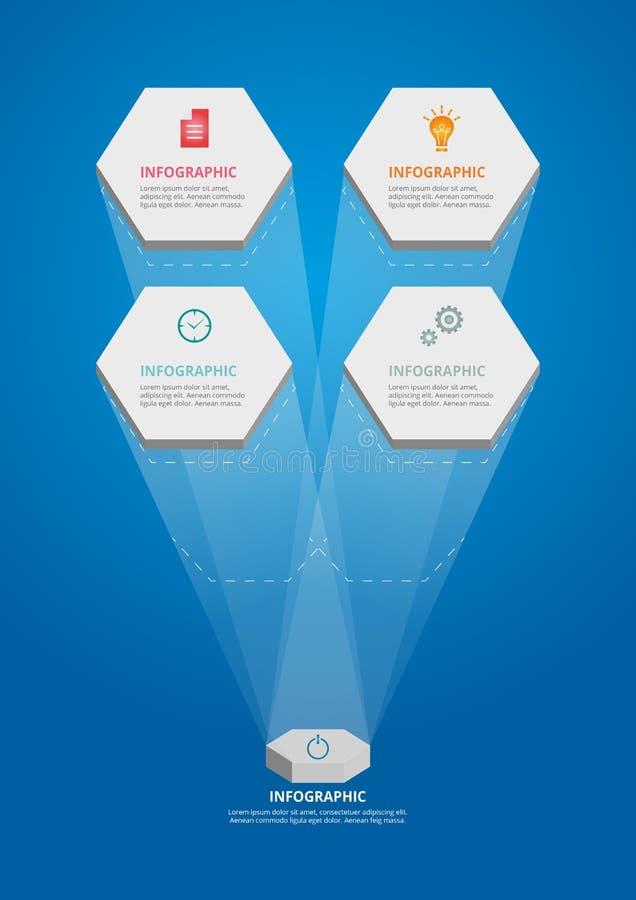 Infographics-Hexa-4_Template 向量例证