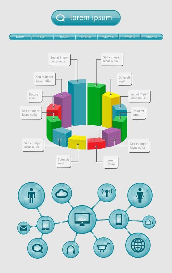 Infographics I Sieć Elementy Zdjęcia Royalty Free
