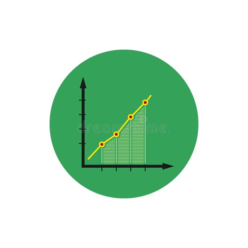 Infographics icon, chart icon, vector illustration. Colorful round infographics icon, chart icon , vector illustration stock illustration