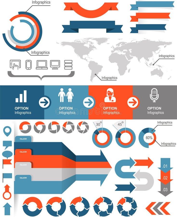 Infographics-Ikonen stock abbildung