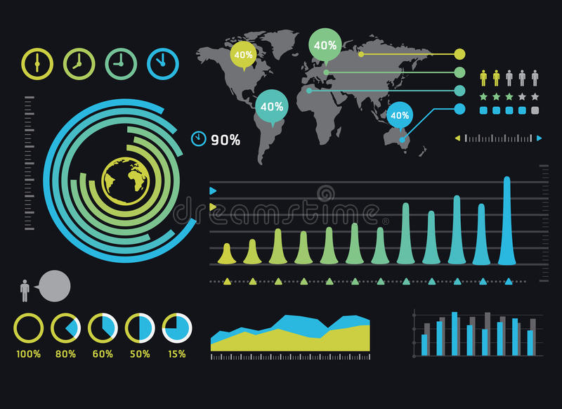 Infographics informaci i setu grafika royalty ilustracja