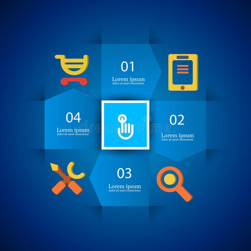 Infographics - instructions pour le magasin en ligne illustration libre de droits