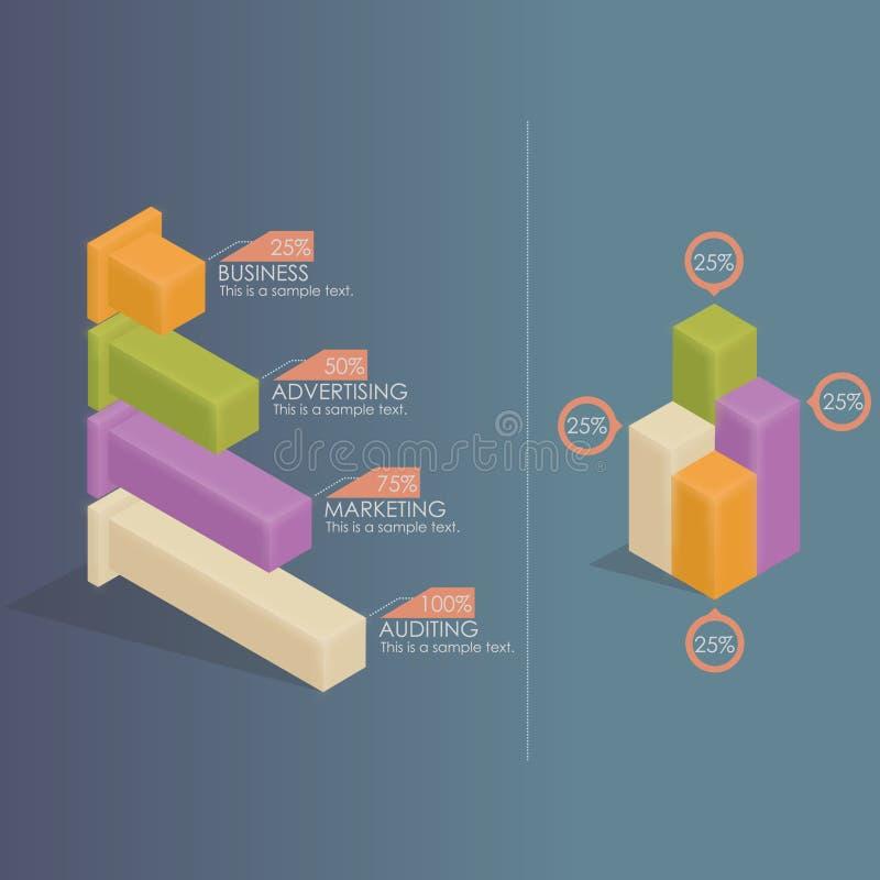 Infographics - istogrammi illustrazione vettoriale