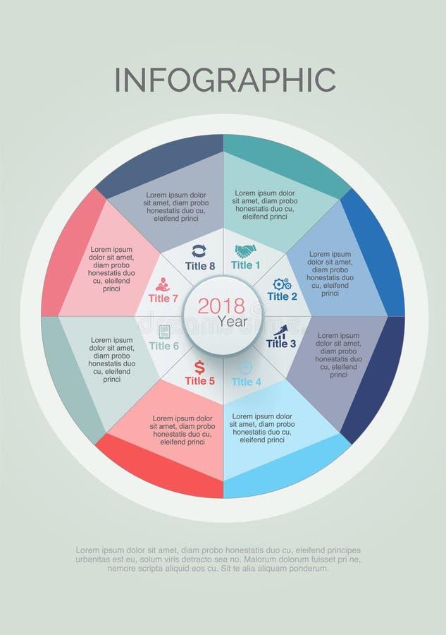 Infographics Kolorowy z okręgami i ikona projektem royalty ilustracja