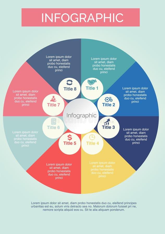 Infographics Kolorowy z okręgami i ikona projektem ilustracji