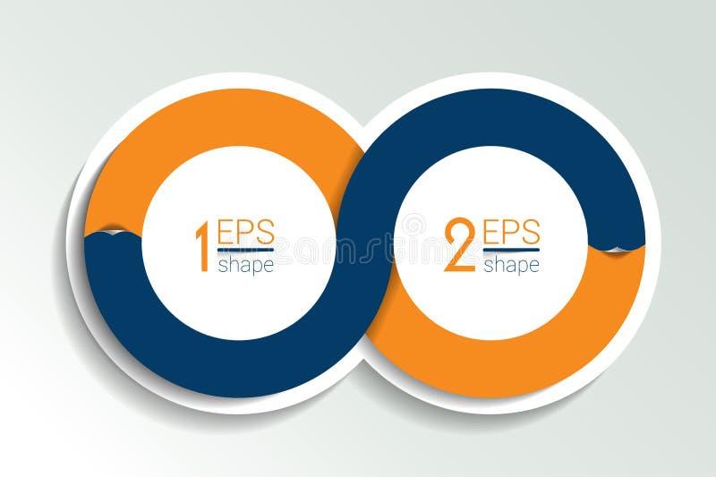 Infographics Kreis mit zwei Elementen lizenzfreie abbildung