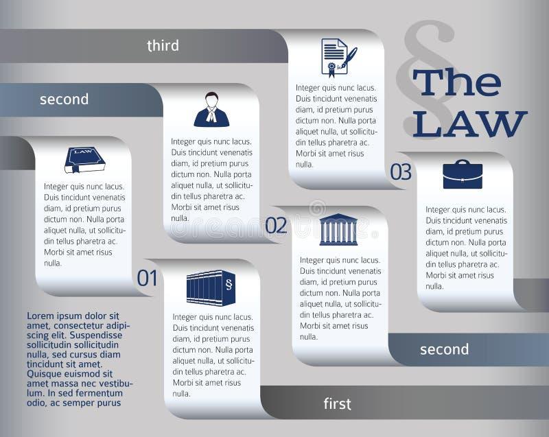 Infographics-lay-out-wettelijk-wet-advocaat royalty-vrije illustratie