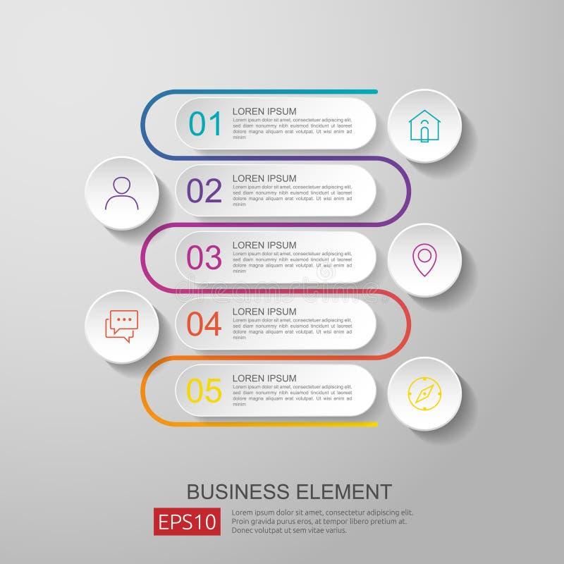 infographics linii czasu element z 3D papieru etykietką, zintegrowani okręgi Biznesowy pojęcie z opcjami dla zawartości, diagram, ilustracji