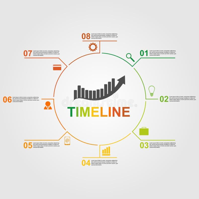 Infographics linii czasu pojęcie ilustracji