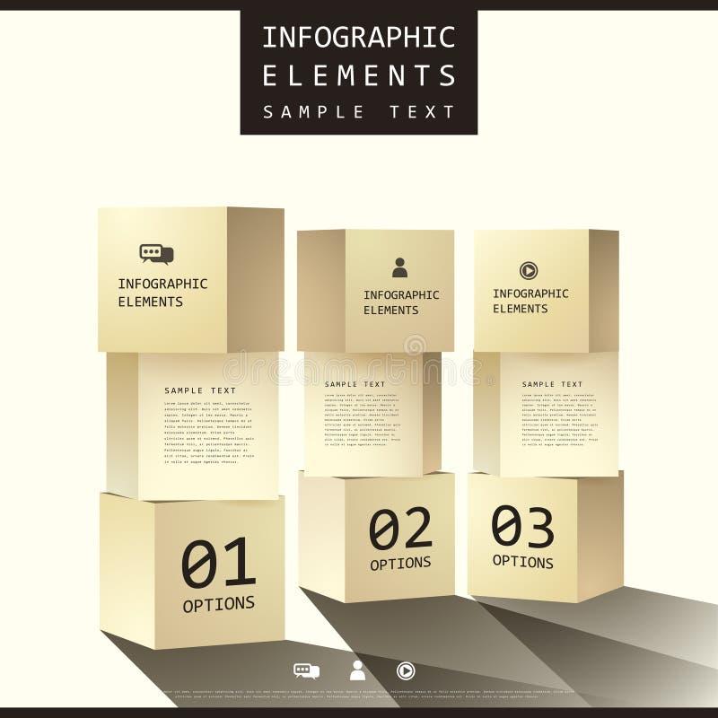 Infographics liso da caixa do sumário do estilo ilustração stock