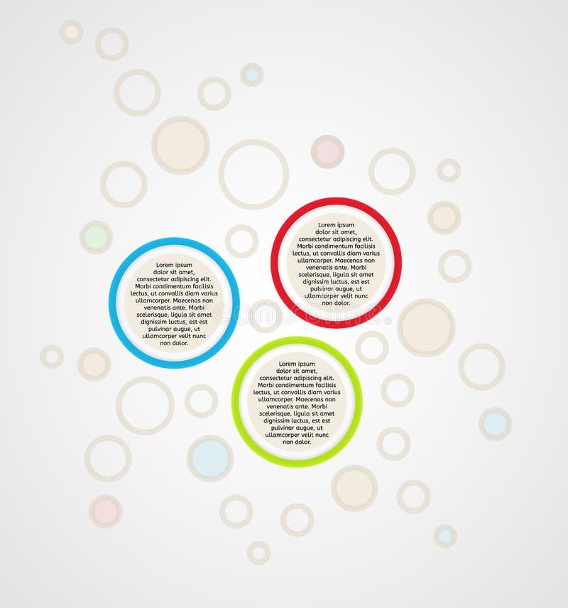 Infographics - los paneles tricolores del círculo ilustración del vector