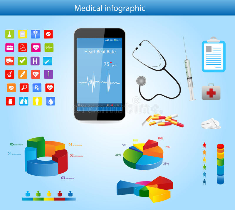 Infographics médico stock de ilustración