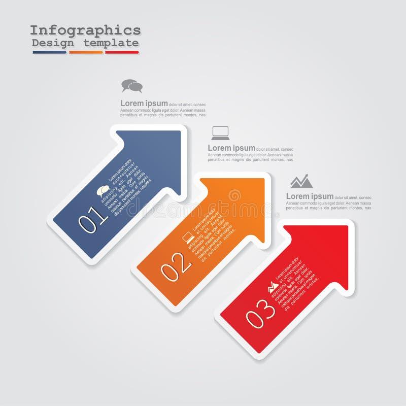 Infographics met pijlen Vector illustratie royalty-vrije illustratie