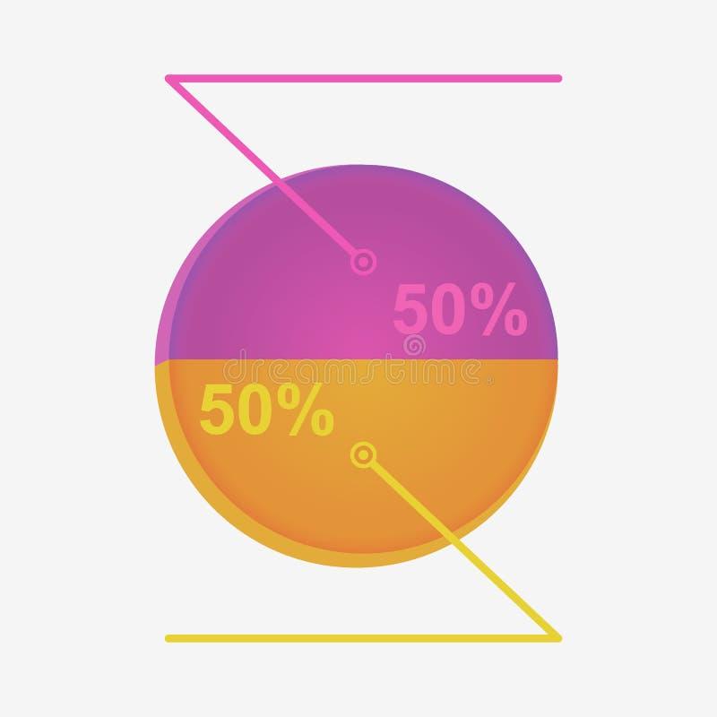 Infographics met rente stock illustratie