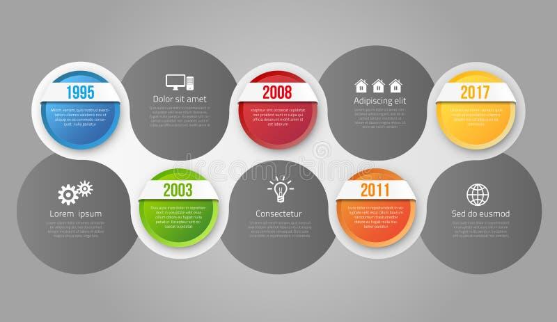 Infographics met stappen of opties stock illustratie