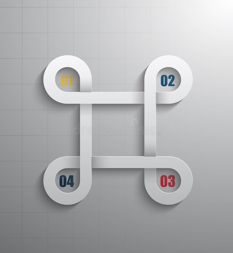 Infographics moderno 3D stock de ilustración