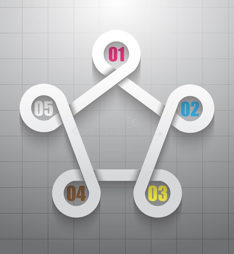 Infographics moderno 3D ilustración del vector