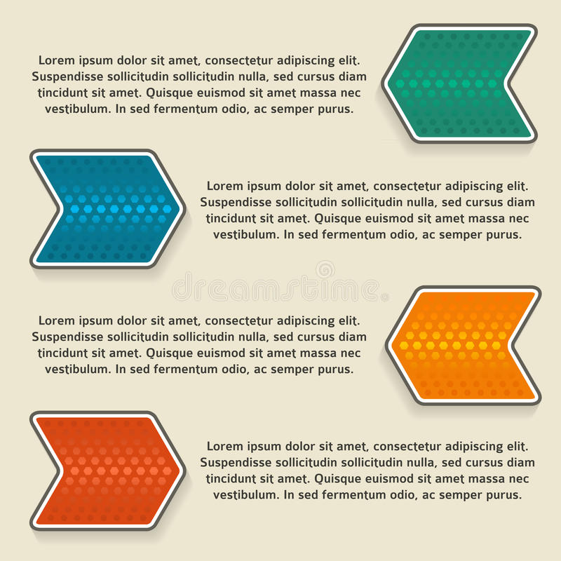 Infographics moderno di stile illustrazione vettoriale