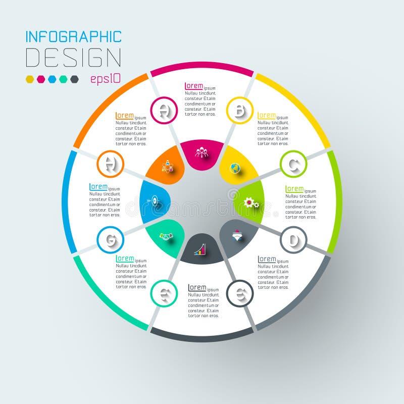 Infographics na wektorowej sztuce ilustracji