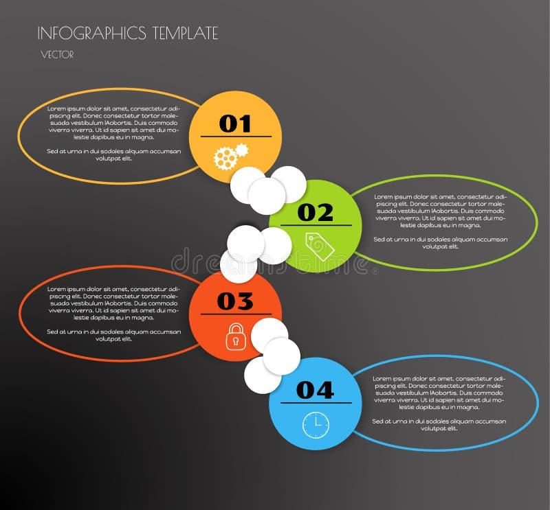 Infographics negro stock de ilustración