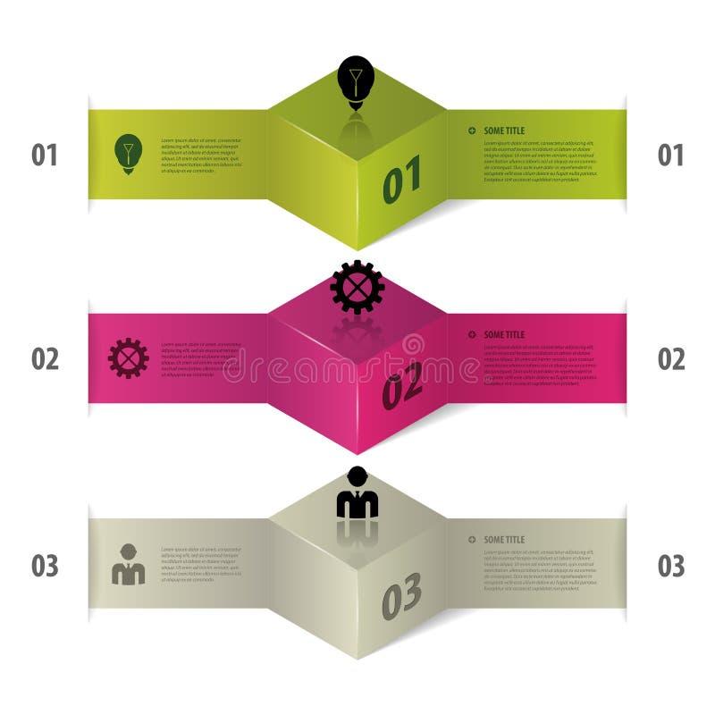 Infographics Nowożytne Biznesowe krok opcje wektor ilustracji