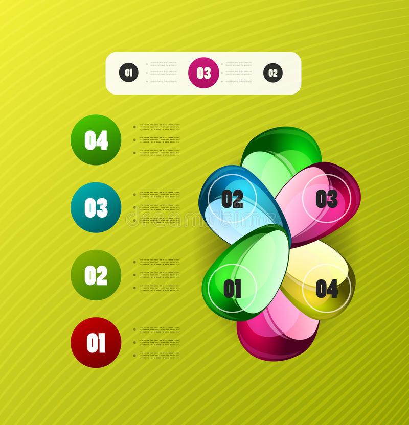 Infographics nowożytnego projekta szablon ilustracja wektor