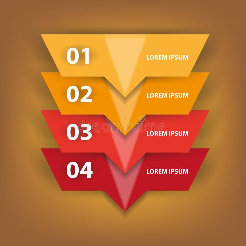 Infographics numeriek over witte achtergrond stock illustratie
