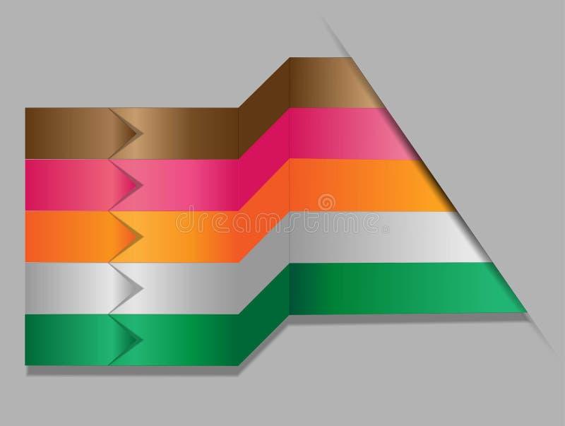 Infographics numerou bandeiras ilustração do vetor