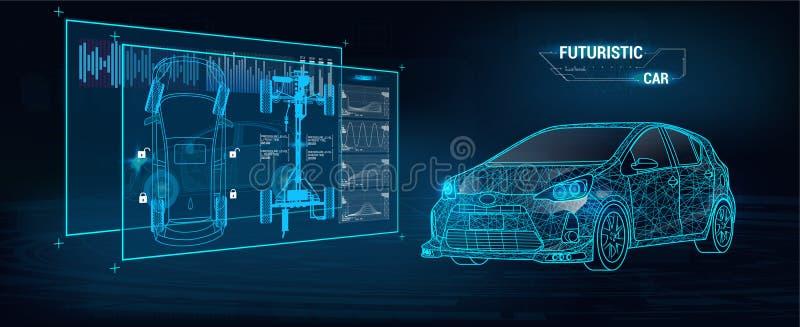 Infographics обслуживания автомобиля автоматическое Стиль Hud бесплатная иллюстрация