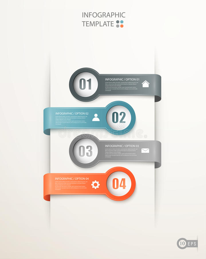 Infographics options banners vector illustration