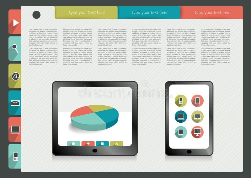 Infographics-Ordnersammlung lizenzfreie abbildung