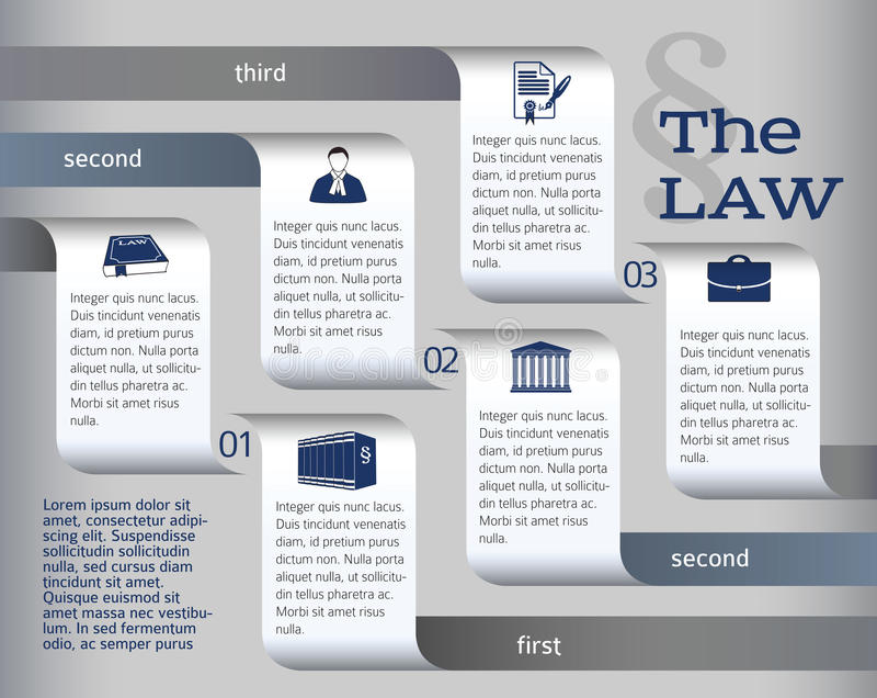 Infographics-orientering-laglig-lag-advokat arkivbilder