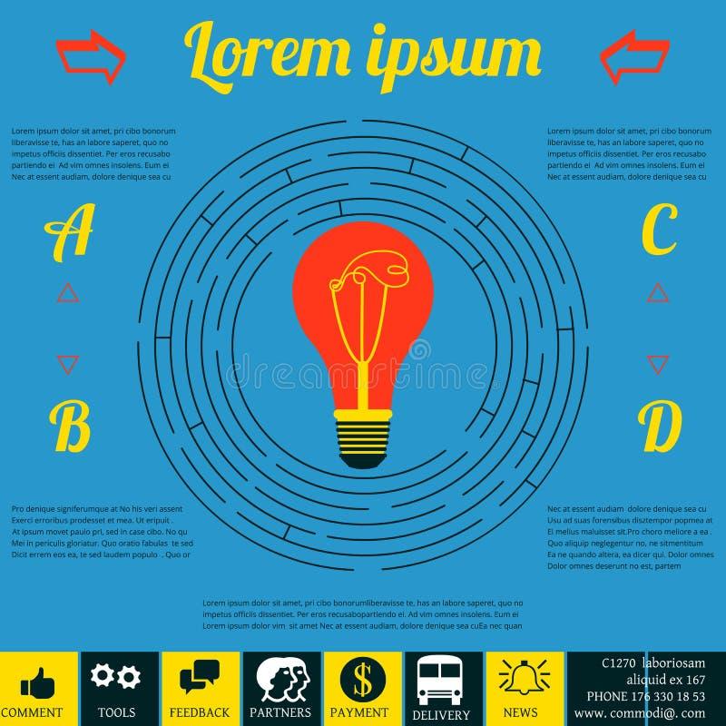 Infographics para la estrategia empresarial Diseño corporativo fondo colorido con las piezas múltiples ilustración del vector