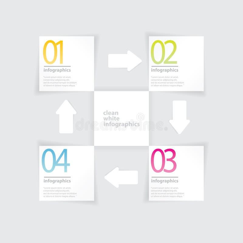 Infographics plano moderno del diseño ilustración del vector