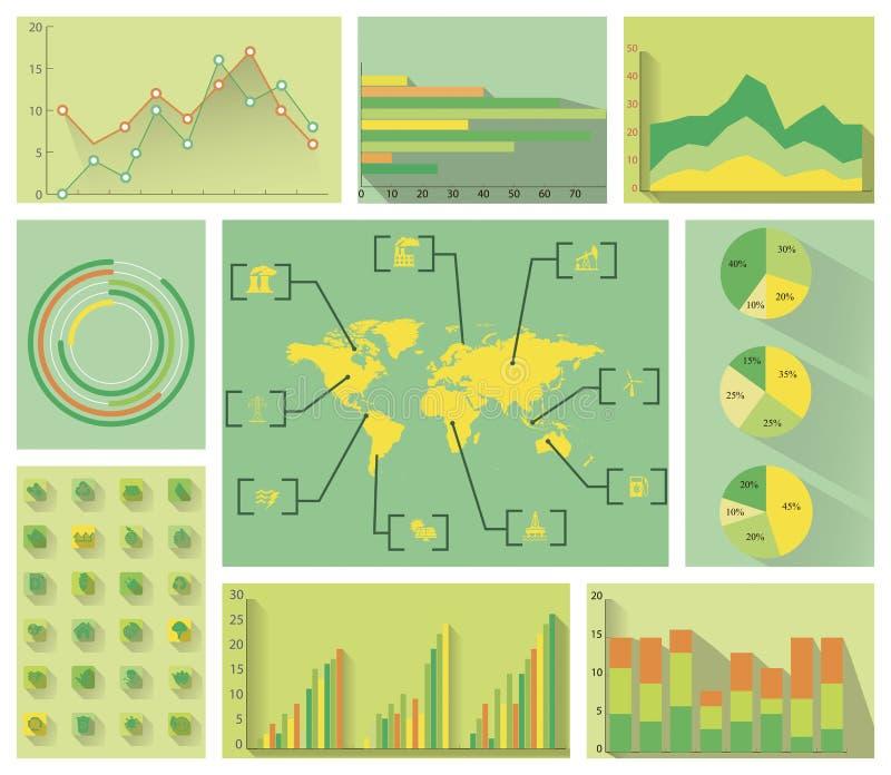 Infographics plat vert illustration stock