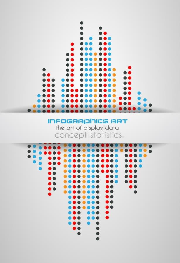 Infographics pojęcie wystawiać twój dane ilustracji