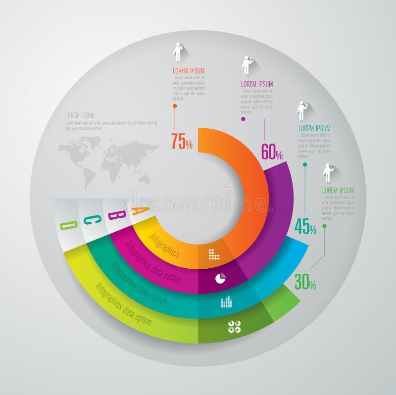 Infographics projekta szablon ilustracji