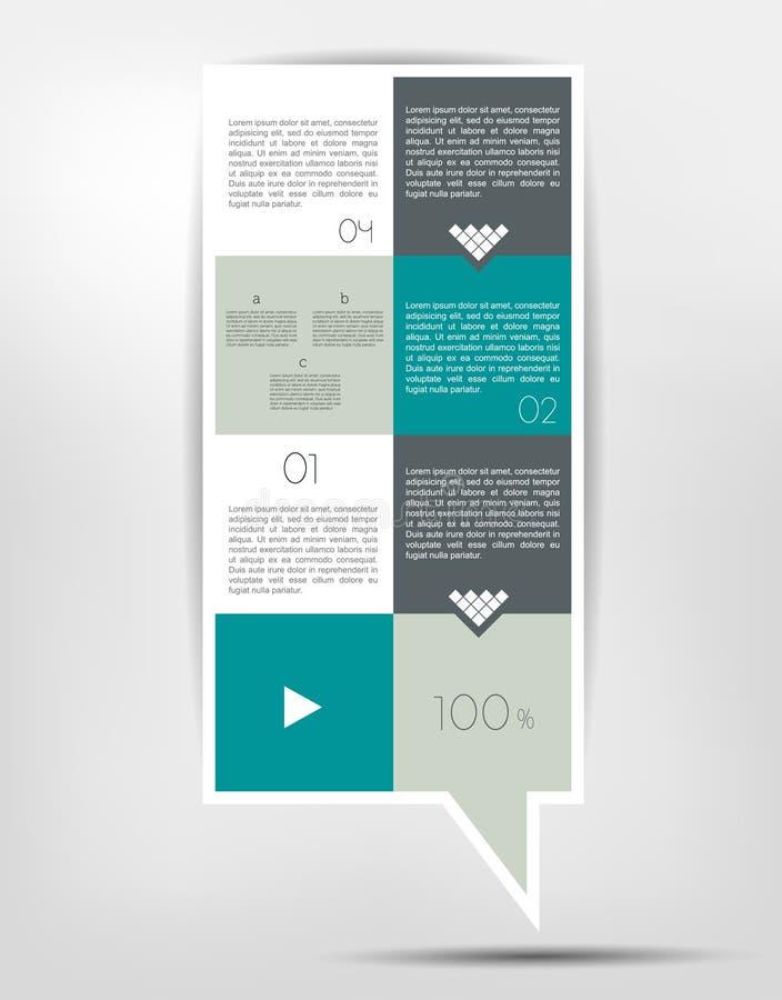 Infographics pudełkowaty diagram ilustracja wektor
