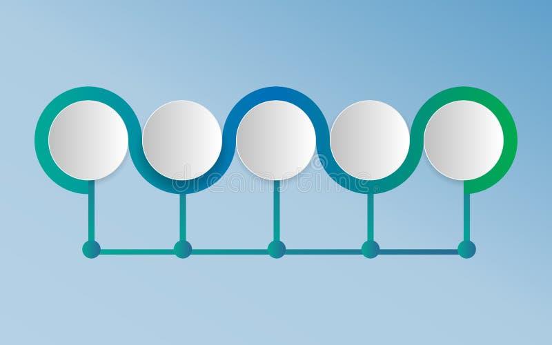Infographics - puede ilustrar un trabajo de la estrategia, del flujo de trabajo o del equipo libre illustration