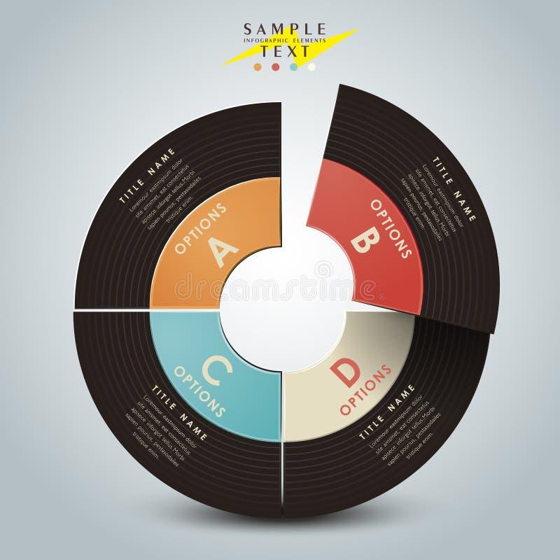 Infographics realístico do vinil do sumário 3d ilustração stock