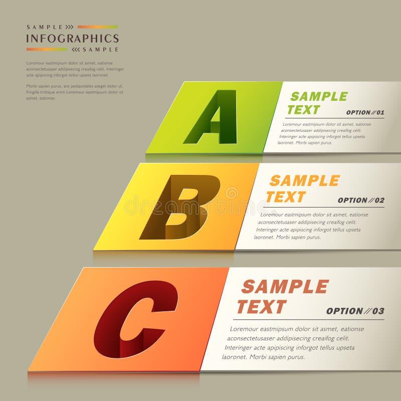 Infographics realista del papel del extracto 3d ilustración del vector