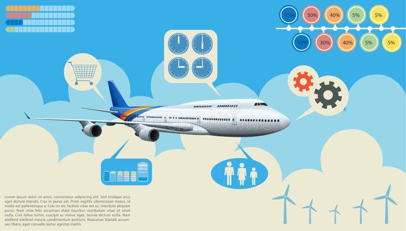 Infographics samolot ilustracja wektor