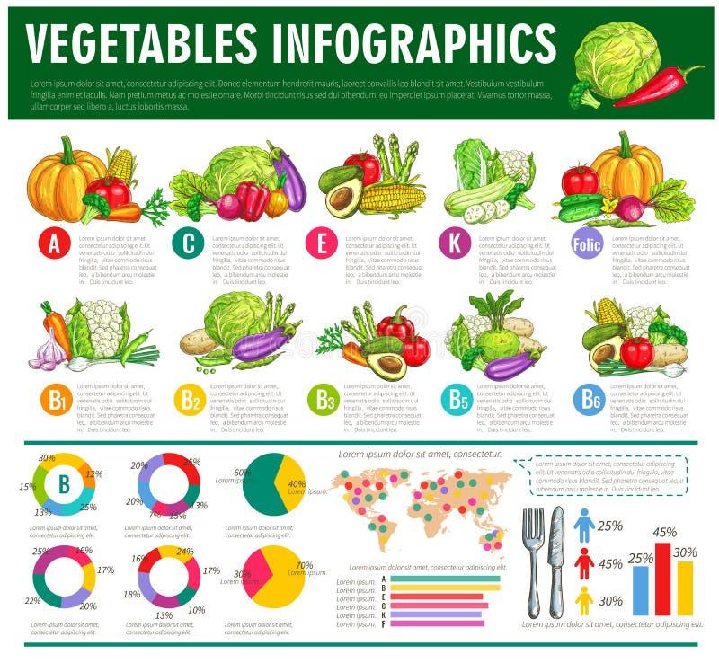 Infographics sano del vector de la comida de las verduras libre illustration