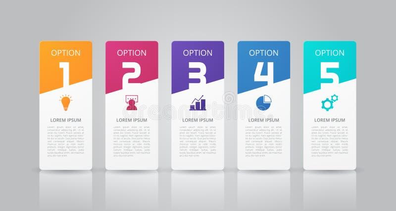 Infographics-Schablone für Geschäft, Bildung, Webdesign, Fahnen, Broschüren, Flieger lizenzfreie abbildung