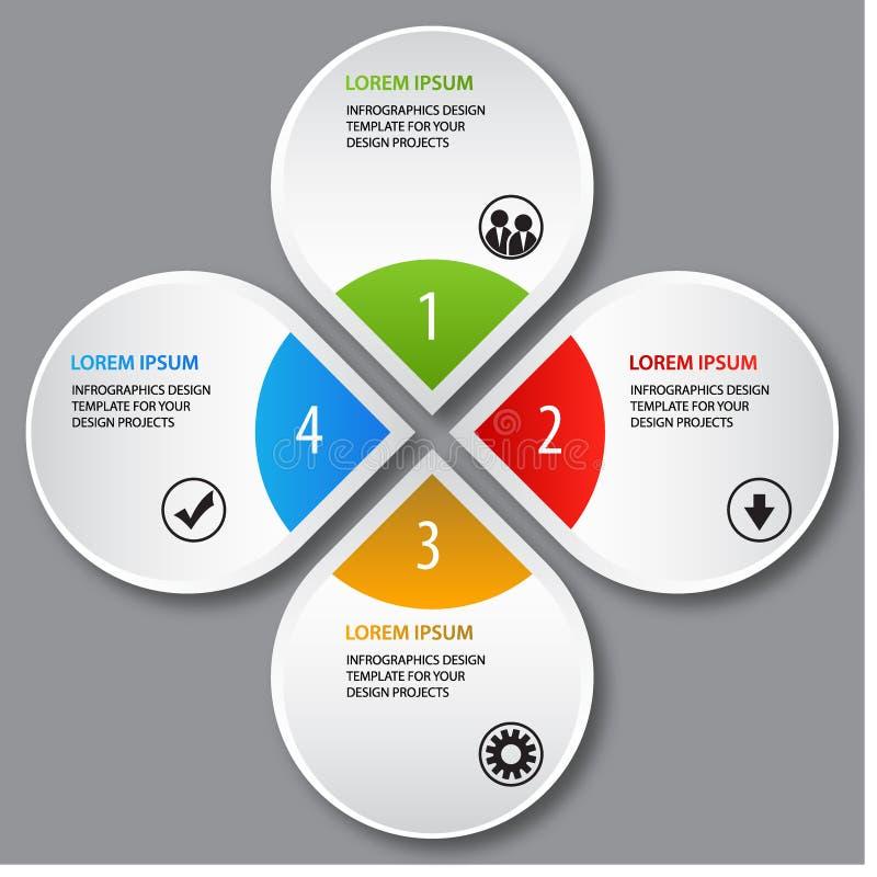 Infographics-Schablonen-Designdarstellung stock abbildung