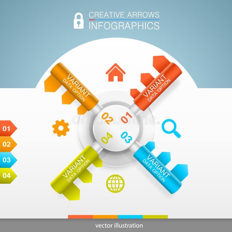 Infographics seguro de la protección libre illustration