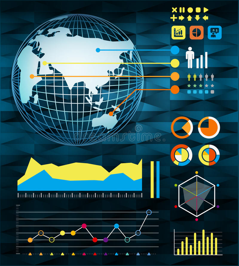 Infographics Set And Information Stock Photos