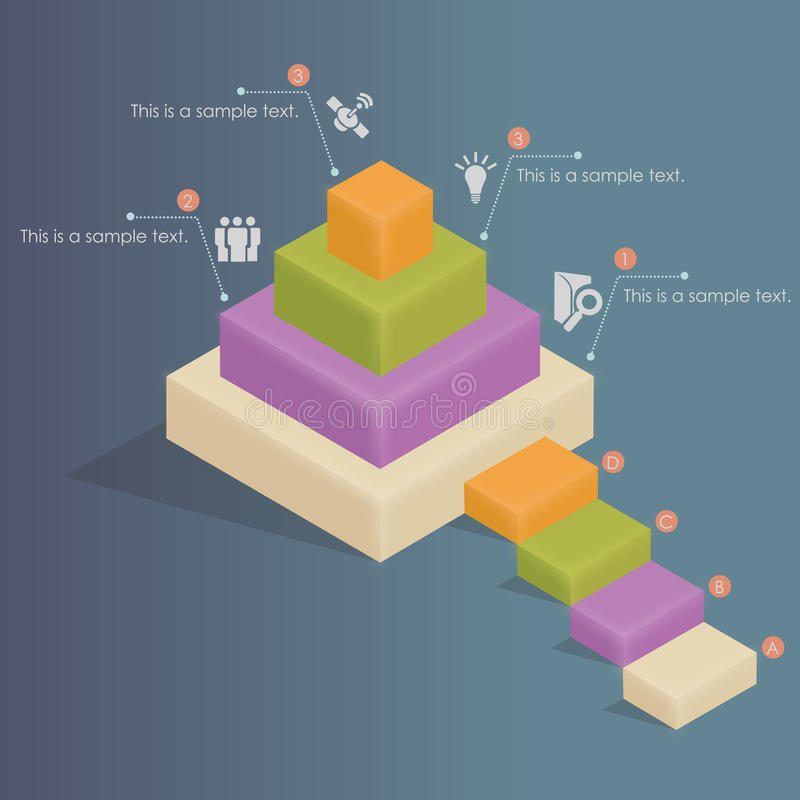 Infographics - social hierarki vektor illustrationer